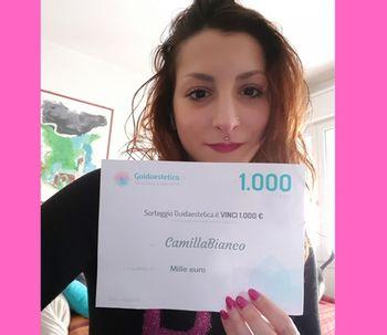 La ganadora de febrero: Felicidades CamillaBianco