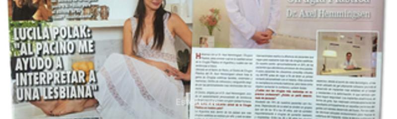 Revista Caras: Nota de actualidad sobre Cirugía Plástica.