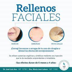 Rellenos Faciales Inyectables Para Labios, pómulos, mentón, nariz, ojeras, surcos y arrugas