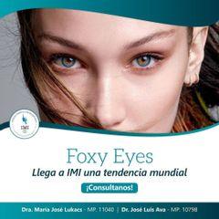 Foxy Eyes: obtene una mirada enigmática y sensual a través de distintos tratamientos. Consultanos!