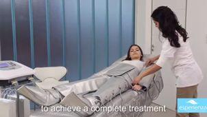 Aplicación de la presoterapia.